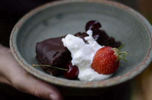 Mandlovo - čokoládový dort